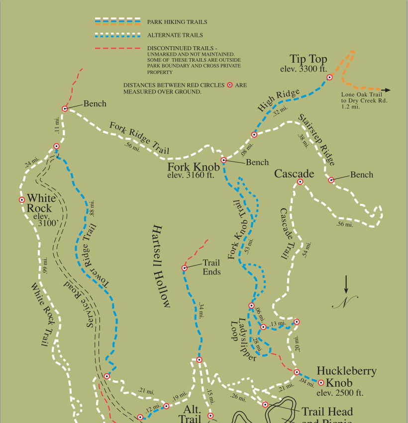 buffalo Mountain Park map | TreeLineBackpacker