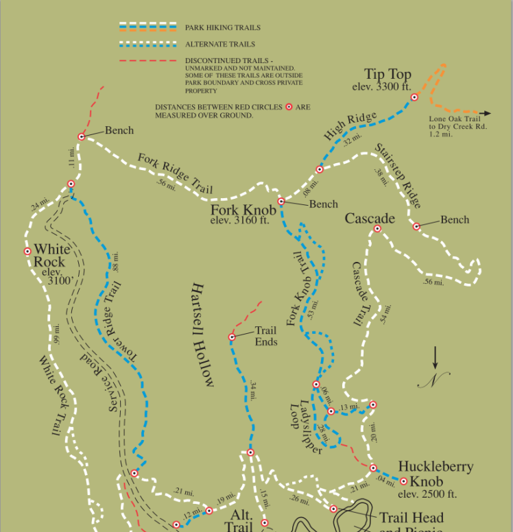 buffalo Mountain Park map
