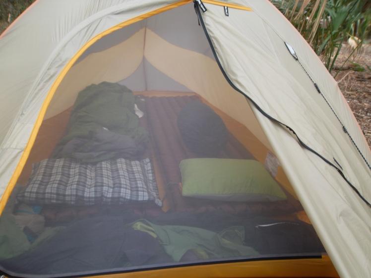 Big Agnes Fly Creek UL2 set up for a good nights sleep.