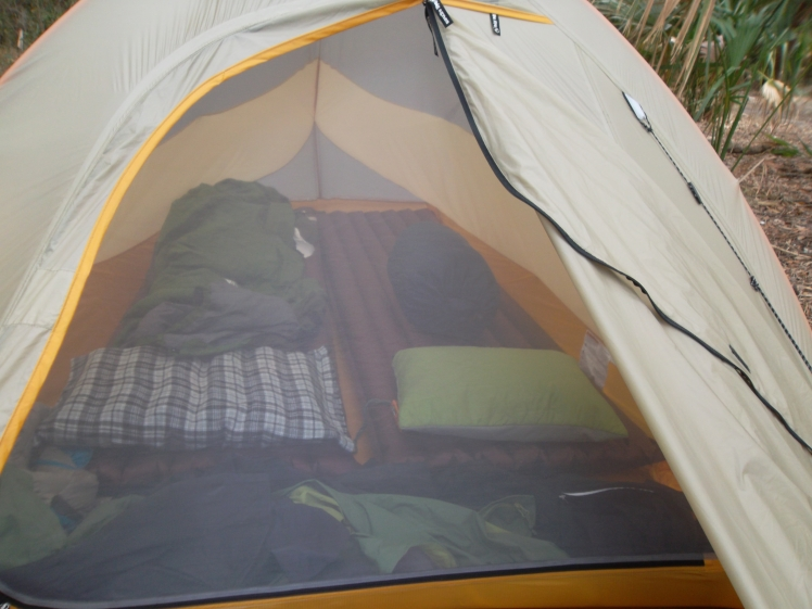 Big Agnes Fly Creek UL2 set up for a good nights sleep.
