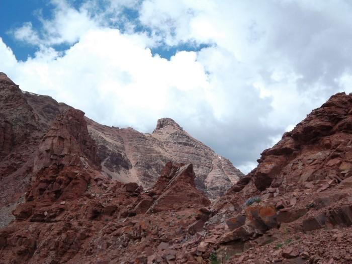 Maroon Bells Wilderness rocky ridge