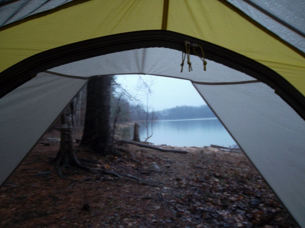 Watching the rain from the safety of the Sierra Designs Lightning UL2. & Sierra Designs Lightning UL2 Tent Review | TreeLineBackpacker