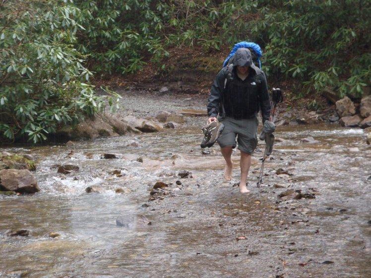 Rainy backpacking