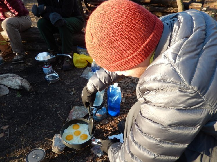 backcountry cooking eggs