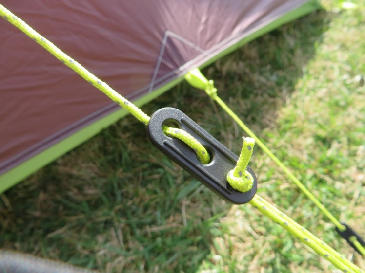Surprisingly good guy lines and ajdusters that outperform their higher end tents.