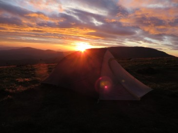 Big Agnes Fly Creek HV UL2 mtnGLO sunset