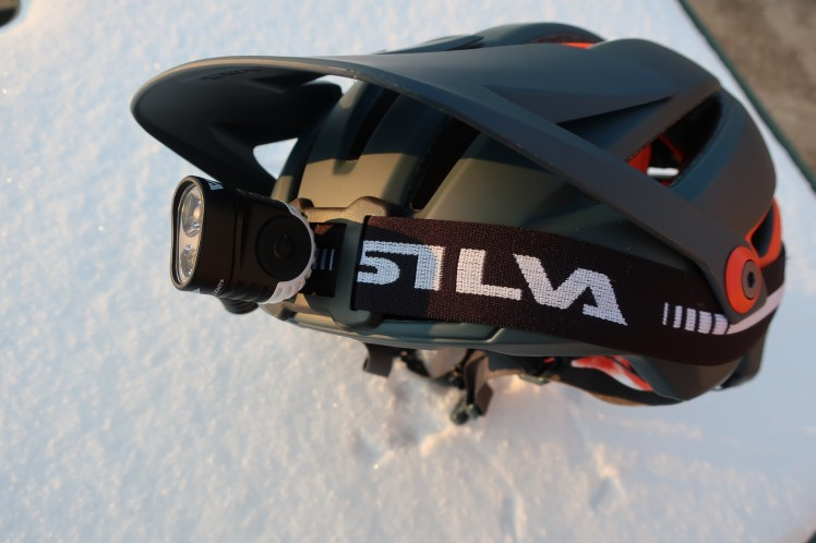 Silva Trail 4XT on a helmet