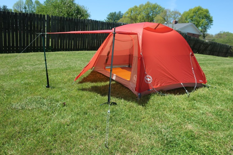 Big Agnes Copper Spur HV UL2 with the awning up.